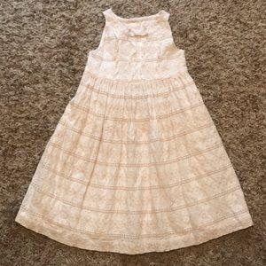 Janie & Jack white & tan dress